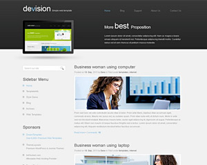 Devision Website Template